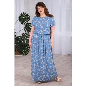 Платье 0926-56 цвет Деним р 54 фото