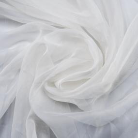 Мерный лоскут вуаль 280 см цвет 15 молочный от 1 м фото
