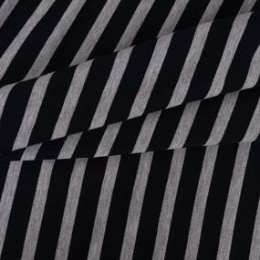 Ткань на отрез футер петля с лайкрой 21-12 Полоса цвет темно-синий фото