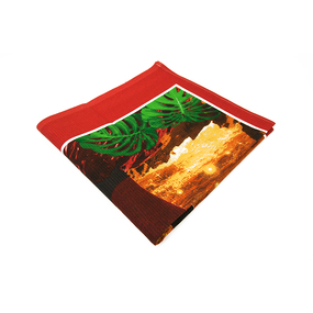Полотенце вафельное пляжное 262/2 Свидание 150/75 см фото
