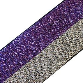 Резинка декоративная №9 люрекс серебро фиолет 3см уп 10 м фото