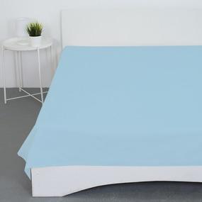 Простынь бязь гладкокрашеная цвет голубой 1.5 сп фото
