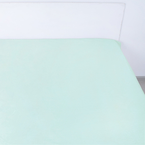 Простынь на резинке поплин цвет мята 140/200/20 см фото