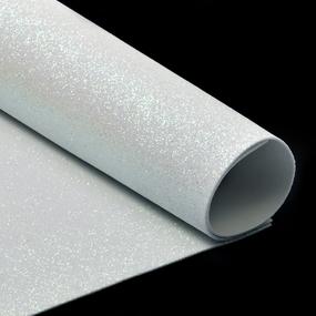 Фоамиран глиттерный Magic 4 Hobby 2 мм арт.MG.GLIT.H020 цв.белый, 20х30 см фото