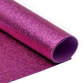 Фоамиран глиттерный Magic 4 Hobby 2 мм арт.MG.GLIT.H033 цв.ярко-розовый, 20х30 см фото