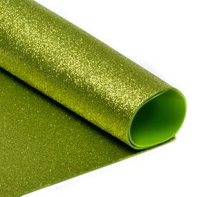 Фоамиран глиттерный Magic 4 Hobby 2 мм арт.MG.GLIT.H036 цв.светло-зеленый, 20х30 см фото