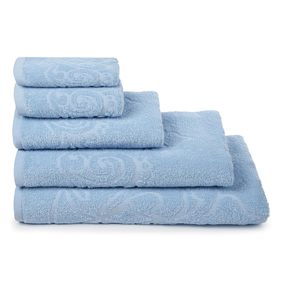 Полотенце махровое Romance ПЛ-401-04353 100/150 см цвет голубой фото