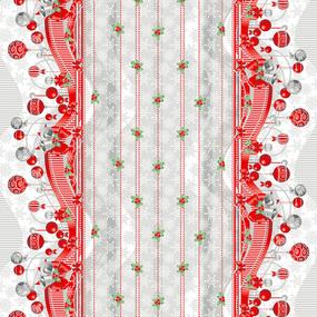 Ткань на отрез вафельное полотно набивное 150 см 202701В Новогодняя ночь фото