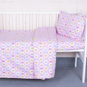 Постельное белье в детскую кроватку 92221 бязь ГОСТ с простыней на резинке фото