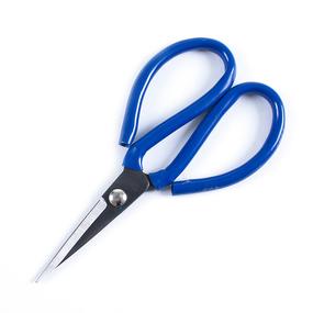 Ножницы портновские цельнометалические 18,5см №3 (синяя ручка) фото