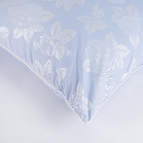 Подушка Лебяжий пух Розы цвет голубой 50/70 фото