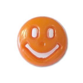 Пуговица детская сборная Смайл 13 мм цвет оранжевый упаковка 24 шт фото