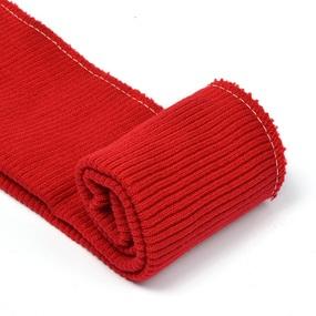 Подвяз 8х70 см 100% ПАН арт.ПРЦ-32/2 рапорт 2х2 плетение ластик цв. 541/0 вишня 5шт фото