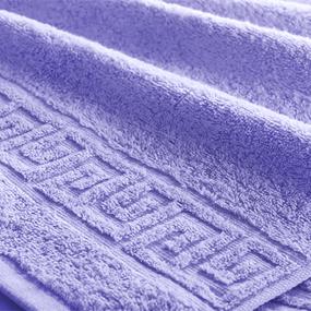 Полотенце махровое Туркменистан 40/65 см цвет сиреневый фото