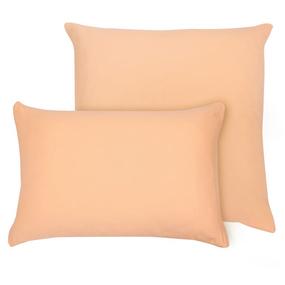 Наволочка на молнии Трикотаж цвет персиковый 50/70 фото