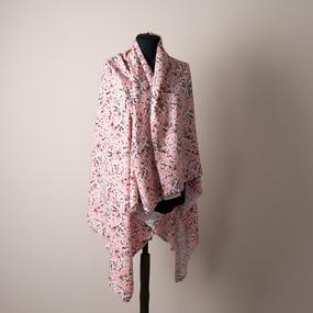 Ткань на отрез штапель 145 см 2912 Вид 3 Цветы на розовый фото