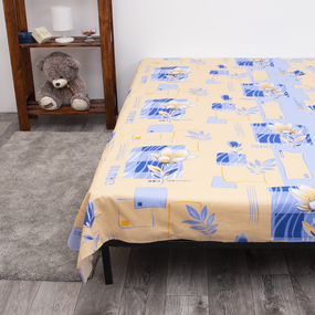 Постельное белье из бязи 569/2 цвет синий 1.5 сп с 1-ой нав. 70/70 фото
