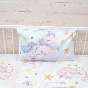 Наволочка перкаль детская 13249/1 Unicorns Модель 4 в упаковке 2 шт 50/70 см фото
