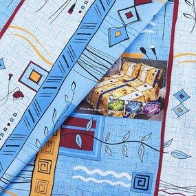 Постельное белье из бязи 133/3 Стамбул голубой 1.5 сп с 1-ой нав. 70/70 фото