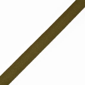 Тесьма киперная 10 мм хлопок 1.8 гр/см цвет оливковый фото