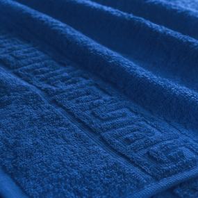 Полотенце махровое Туркменистан 70/135 см цвет темно-синий фото