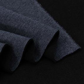 Ткань на отрез футер 3-х нитка компакт пенье начес цвет синий меланж фото