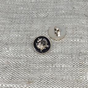 Пуговица ПР199 12 мм черная герб золото уп 12 шт фото