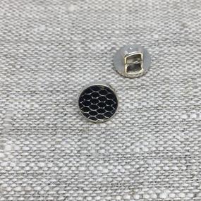 Пуговица ПР205 9 мм черная глянцевая уп 12 шт фото