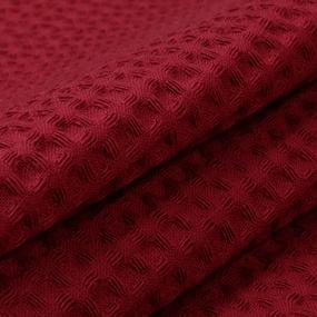 Ткань на отрез вафельное полотно гладкокрашенное 150 см 240 гр/м2 7х7 мм цвет 066 бордо фото