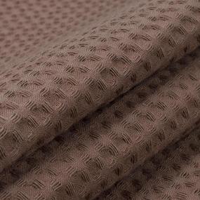 Ткань на отрез вафельное полотно гладкокрашенное 150 см 240 гр/м2 7х7 мм цвет 842 шоколад фото
