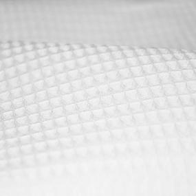 Ткань на отрез вафельное полотно отбеленное 150 см 240 гр/м2 ячейка 7х7 мм фото