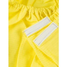 Вафельная накидка на резинке для бани и сауны женская цвет лимон фото