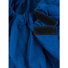 Вафельная накидка на резинке для бани и сауны мужская цвет василек фото