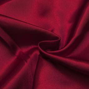 Шелк искусственный 100% полиэстер 220 см цвет красный фото