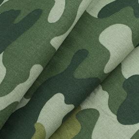 Ткань на отрез бязь ГОСТ Шуя 220 см 20126/1 Камуфляж цвет зеленый фото
