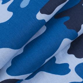 Ткань на отрез бязь ГОСТ Шуя 220 см 20126/2 Камуфляж цвет синий фото