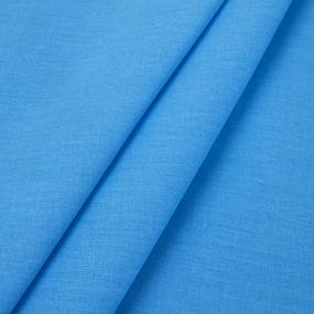 Ткань на отрез поплин гладкокрашеный 115 гр/м2 220 см цвет лазурный фото