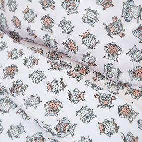 Постельное белье в детскую кроватку из поплина 1769/7 персик с простыней на резинке фото