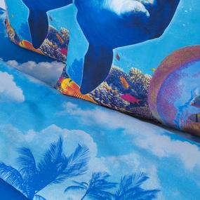 Постельное белье бязь Дельфин с 3D эффектом Евро фото