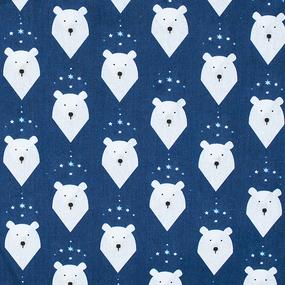 Бязь 120 гр/м2 детская 150 см 7259/1 Белый медведь фото