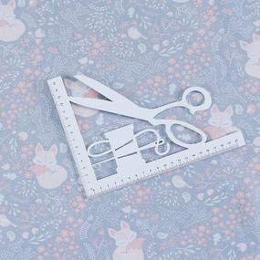Бязь 120 гр/м2 детская 150 см 7247/1 Лисички цвет серый фото