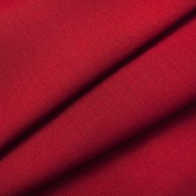 Ткань на отрез полулен 150 см 70015 цвет красный фото
