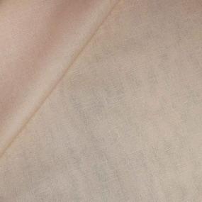 Ткань на отрез полулен 150 см 70023 цвет бежевый фото