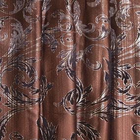 Портьерная ткань с люрексом 150 см Х7187 цвет 14 коричневый ветка фото