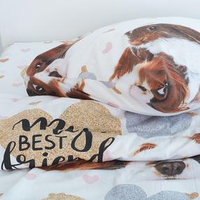 Детское постельное белье 16081/1 Кроль и спаниель 1.5 сп перкаль фото