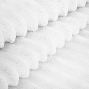 Плюш Минки Полоса Китай 180 см на отрез цвет белый фото