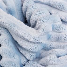 Плюш Минки Полоса Китай 180 см на отрез цвет голубой фото