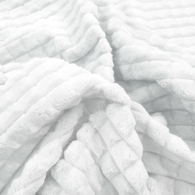 Плюш Минки Квадрат Китай 180 см на отрез цвет белый фото