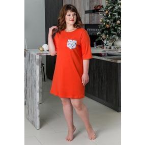 Туника 0773 цвет Оранжевый р 46 фото