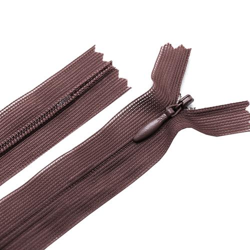 Молния пласт потайная №3 50 см цвет коричневый фото 1